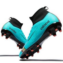 Football-Shoes Boots Sneakers Turf Spike Futsal Comfortable Superfly Men Soccer WHITE