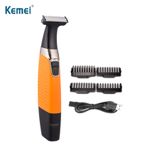 KEMEI Rechargeable Hair Trimmer One Blade Electric Shaver Beard Razor Body For Men Shaving Machine