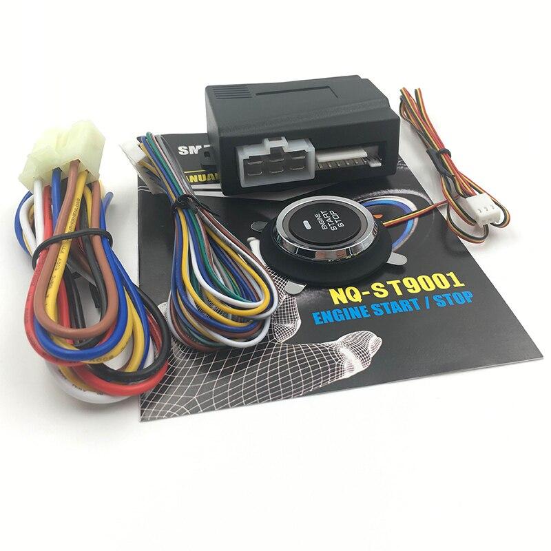 12 v 자동차 알람 자동차 엔진 푸시 시작 버튼 rfid 잠금 점화 스타터 열쇠가없는 항목 시작 중지 도난 방지 시스템 NQ-ST9001