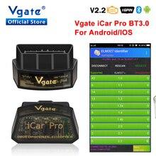 Vgate iCar pro ELM 327 Bluetooth OBD2 scanner di Diagnostica Per Auto elm327 strumento di scansione auto strumento di diagnostica OBDII scaner automotivo
