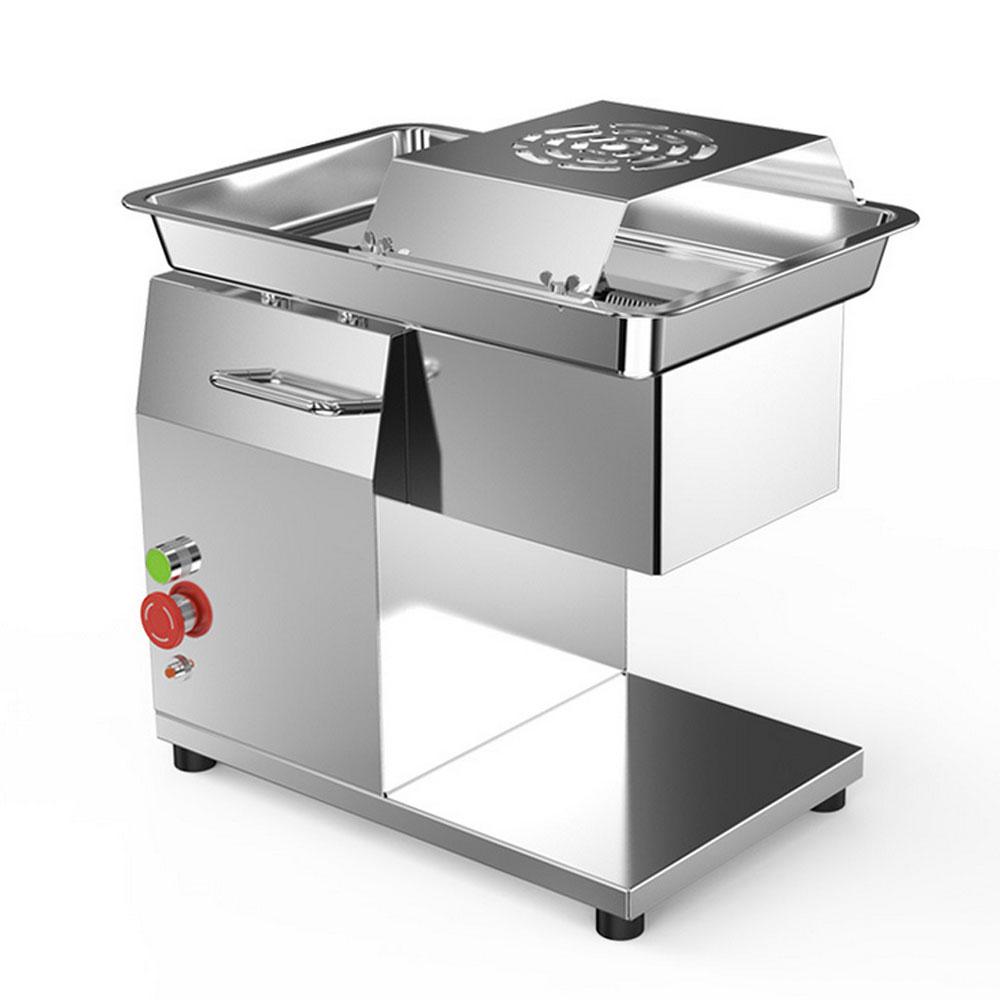 Máquina de aço inoxidável elétrica do prato vegetal da espessura do cortador de carne 220 v corte em cubos da máquina do cortador de carne 3.5mm comercial