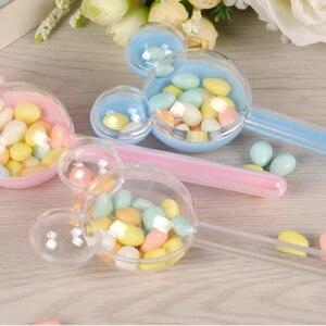 Image 4 - 24 sztuk/partia pudełko cukierków czekoladowych opakowania Baby Shower pudełko cukierków plastikowe wesele dzieci Birthday party cukierki pudełka