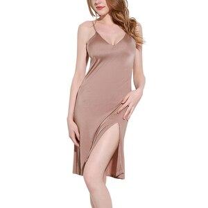 Женские ночные рубашки из 100% натурального шелка, ночная рубашка свободного размера плюс, Сексуальная Домашняя одежда на лето