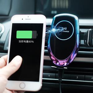 Image 4 - QI 15W voiture sans fil Auto Hholder chargeur de verre à base daspiration véhicule sans fil pour iphone xr xiaomi huawei câble fort