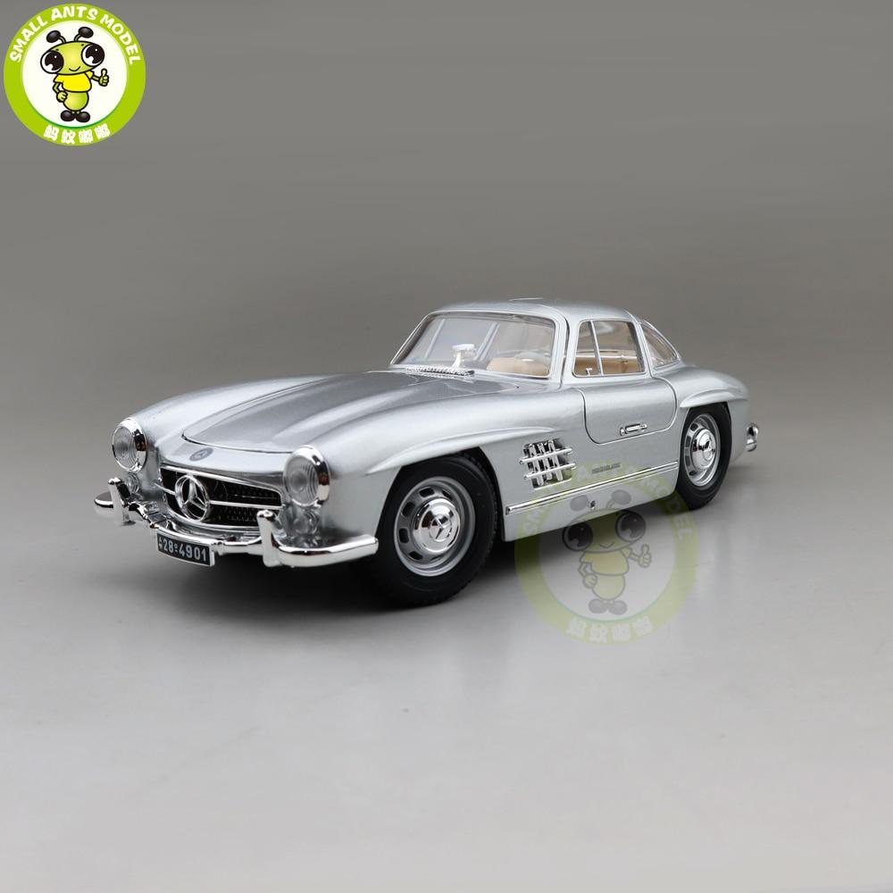 1/18 Benz 300SL 300 SL 1954 Bburago 12047 Литые металлические модели автомобилей, игрушки для мальчиков и девочек, подарки|Наземный транспорт| | АлиЭкспресс