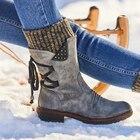 Mid Calf Boots Winte...