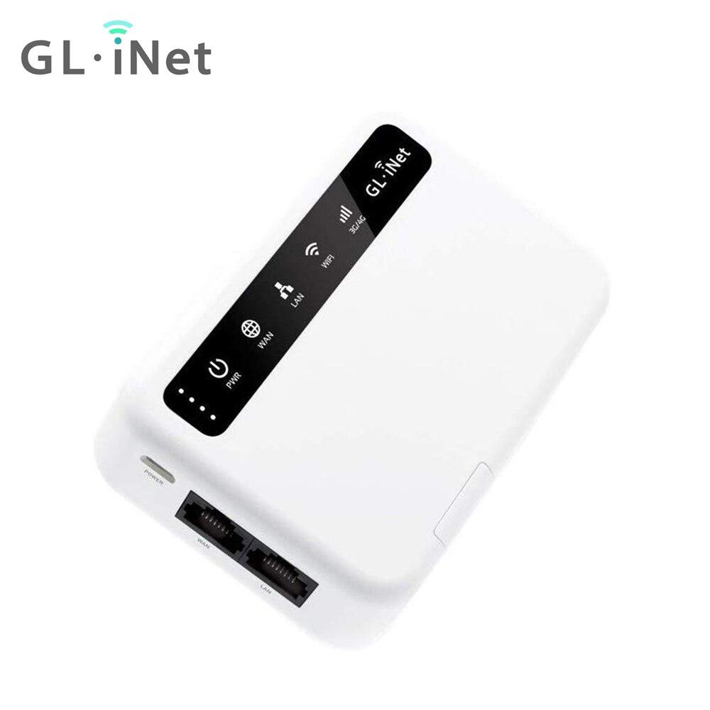 GL.iNetGL-XE300(Puli) 4G LTE Mobile Smart VPN роутер Портативный WiFi беспроводная точка доступа для путешествий, OpenWrt, батарея 5000 мАч, OpenVPN