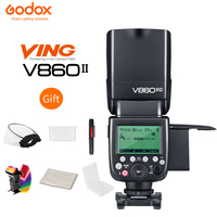 Godox V860 II V860II S V860II C 860II N Speedlite Li ion Battery Fast HSS Flash For Sony A7 A7S A7R for Nikon Canon Olympus Fuji