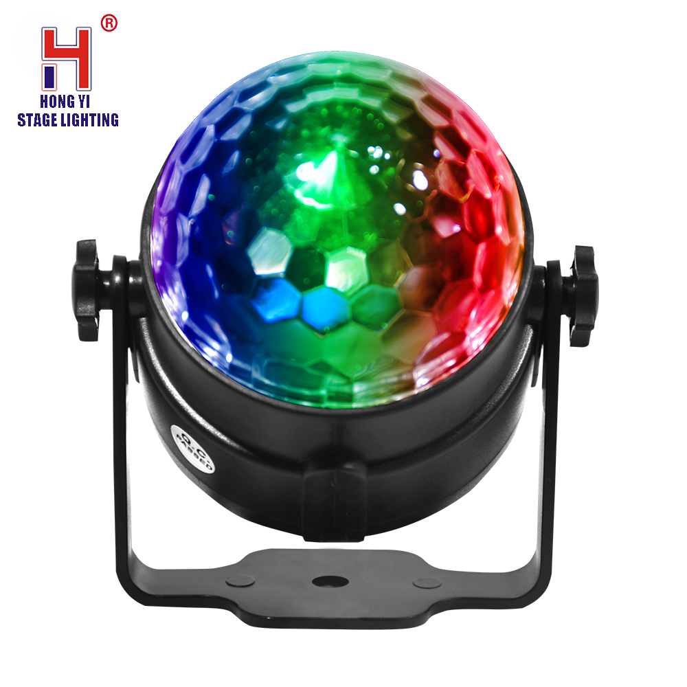 Led Stage Lamp DJ KTV Disco Laser Light Party Lights Sound IR Remote Control Christmas Projector Mini RGB 3W Crystal Magic Ball