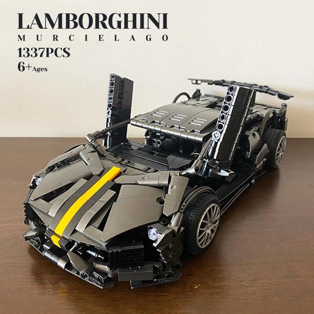 Creator Expert 1337pcs High-tech 488 RSR Formula Racing Car Moc Modular Bricks Building Blocks Model Technical Boys Toys