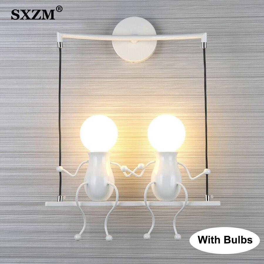 الإبداعية E27 الحديثة وحدة إضاءة LED جداريّة مصباح شنت الحديد 5 واط 10 واط الشمعدان الجدار ضوء شنت لغرفة النوم الممر الجدار ضوء lampara pared