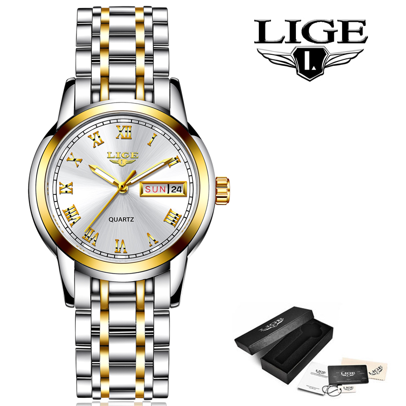 Closeout DealsLIGE Bracelet Watches Clock Feminino Female Creative Waterproof Women's Ladies Steel