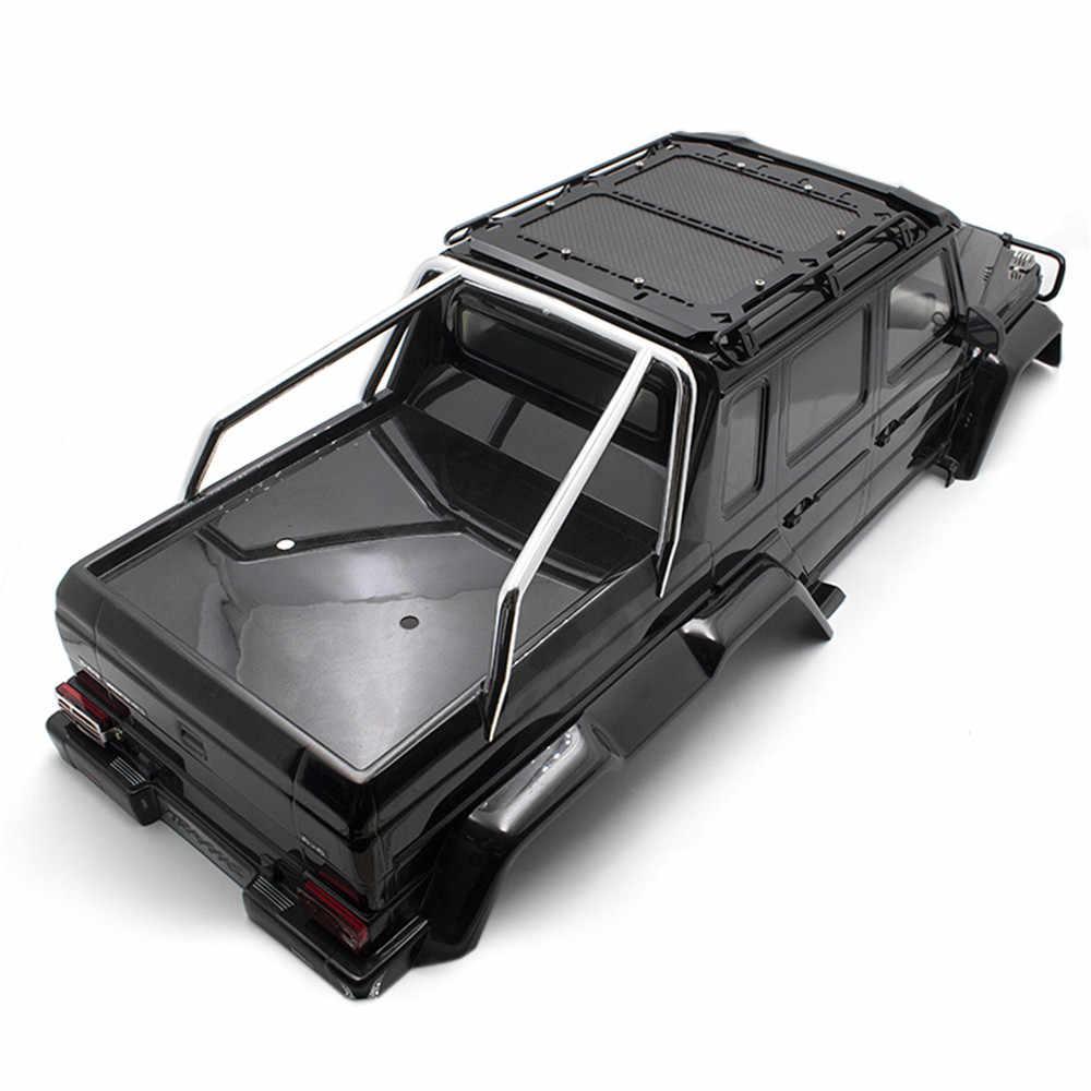 RC หลังคารถ Rack กระเป๋าเดินทางผู้ให้บริการสำหรับ TRAXXAS TRX6 G63 RC Crawler รถอะไหล่อัพเกรดคาร์บอนไฟเบอร์แผ่น