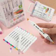 12 18 24 36 Color Markers Manga Drawing  Markers Pen Alcohol Based Sketch Oily Dual Brush Pen Art Supplies