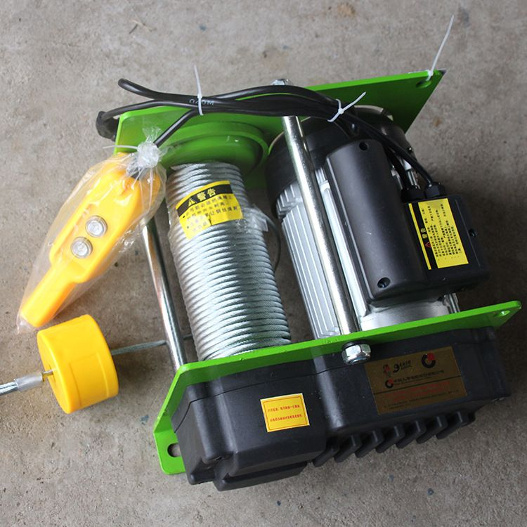 1000KG 100M Wire Rope Hoist Micro Electric Hoist Electric Hoist Electric Winch With Handle Switch