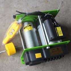 1000KG 100M lina stalowa wciągnik micro wciągnik elektryczny wciągnik elektryczny kabestan elektryczny z przełącznik z uchwytem w Narzędzia i akcesoria do podnoszenia od Narzędzia na