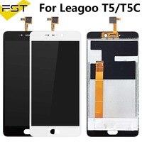 """Schwarz/Weiß Für LEAGOO T5 T5C LCD Display Und Touch Screen 5 5 """"Montage Telefon Zubehör Für LEAGOO T5 reparatur Teil + Werkzeuge Handy-LCDs    -"""