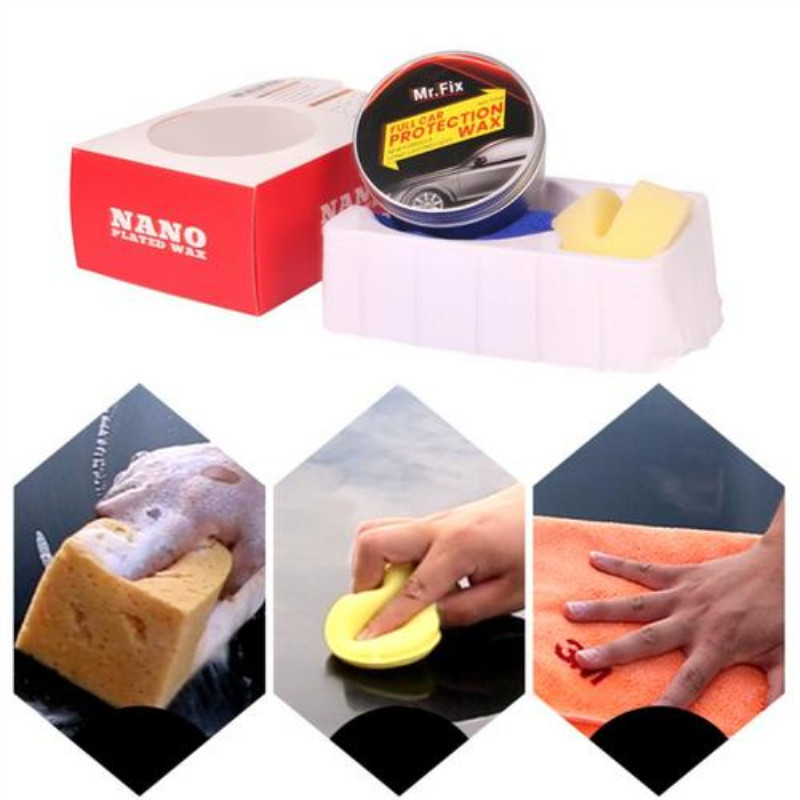 Professional Hard Wax Paint Care Scratch Repair Maintenance Wax Car Wax Crystal Paint Surface Coating Free Sponge And Towel