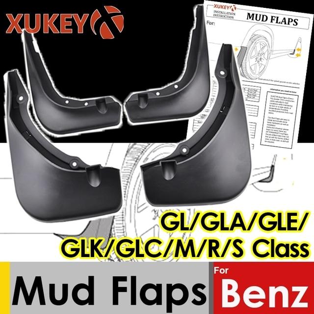 בוץ דשים עבור מרצדס בנץ GL כיתת X164 GLA X156 GLE W166 V167 GLK X204 M W164 S W221 V221 GLC Mudflap Splash משמרות מגני בץ
