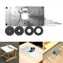 Table-Insert-Plate Router Wood-Plate-Machine Engraving Woodworking Benches 4-Rings-Tool