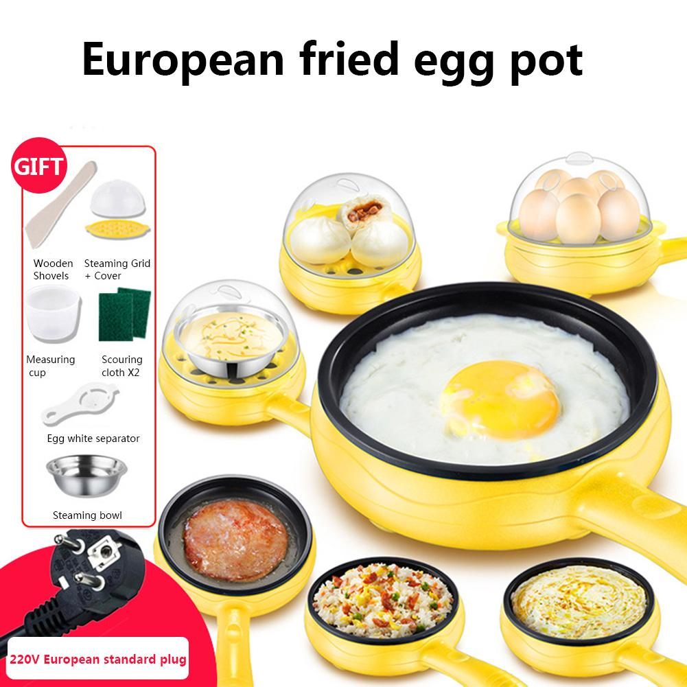 Mini Fry Pan Automatic Power Off Egg Pan Cooker American Standard 110V/European Standard 220V Plug For Home Breakfast Making