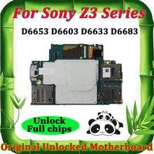 소니 에릭슨 Xperia Z3 D6653 D6603 D6633 D6683 마더 보드 안드로이드 시스템 로직 보드 메인 보드 os에 대한 잠금 해제 마더 보드