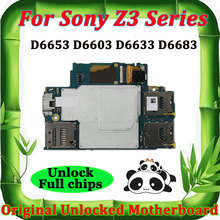 unlocked Mother boards for Sony Ericsson Xperia Z3 D6653 D6603 D6633 D6683 Motherboard Android system logic board main board os