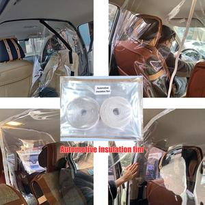 Car Taxi Isolation Film Plastic Anti-Fog Full Surround Protective Cover Net Cab Front and Rear Row PVC Film For car Cockpit(China)