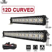 CO LIGHT LED Bar Curved 390W 585W 780W 936W 975W 3-Rows LED Light Bar for Driving Offroad Boat Tractor Truck 4x4 SUV ATV 12V 24V 390w 36 offroad led light bar 12v 24v combo car truck wagon atv suv pickup camper 4wd 4x4 tractor auto driving lamp headlight href page href