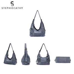 Image 5 - SC Vintage Genuine Leather Bag Shoulder Handbags for Women Large Casual Retro Girl Messenger Bags Handmade Patchwork Knapsack