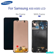 100% สำหรับSuper AmoledสำหรับSamsung Galaxy A50 SM A505FN/DS A505F/DS A505จอแสดงผลLCDหน้าจอสัมผัสdigitizer Assembly