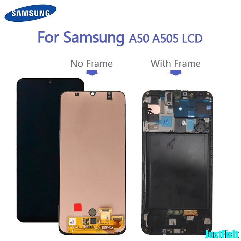 100% Original For Super Amoled For Samsung Galaxy A50 SM-A505FN/DS A505F/DS A505 LCD Display Touch Screen Digitizer Assembly image