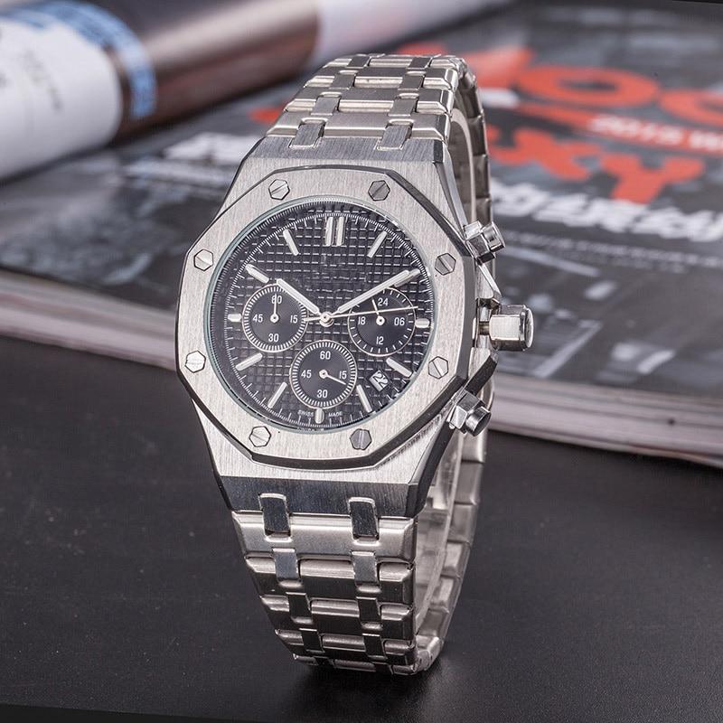 Top Luxury Brand Men's Day-Date Watch Men Aaa Quartz Wrist Watch Clock With Stainless Steel Strap Relojes Hombre 2020