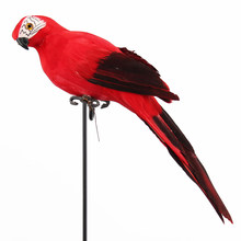 Lawn Outdoor Animal Birds Parrot Ornament Figure Tree Decor Lifelike Imitation Realistic Garden(China)