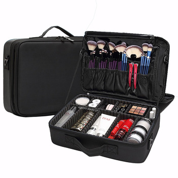 New Fashion Women Cosmetic Bag Travel Makeup Professional Make Up Box Cosmetics Pouch Bags Beauty Case For Artist - discount item  35% OFF Special Purpose Bags
