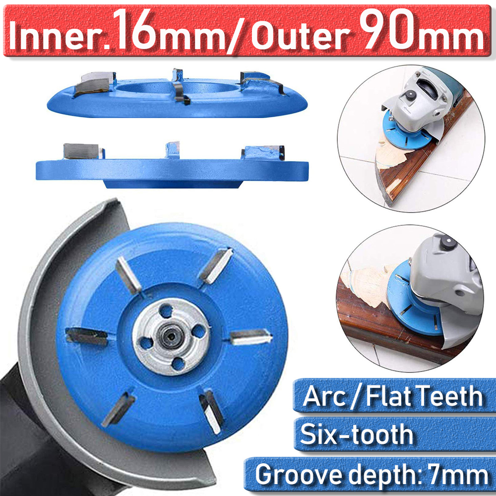 Cutter For 16Mm Aperture Angle Grinder Key Word Carving Disc Milling Wood Working 6 Teeth Carving Wood Disc Cutting Discs D40