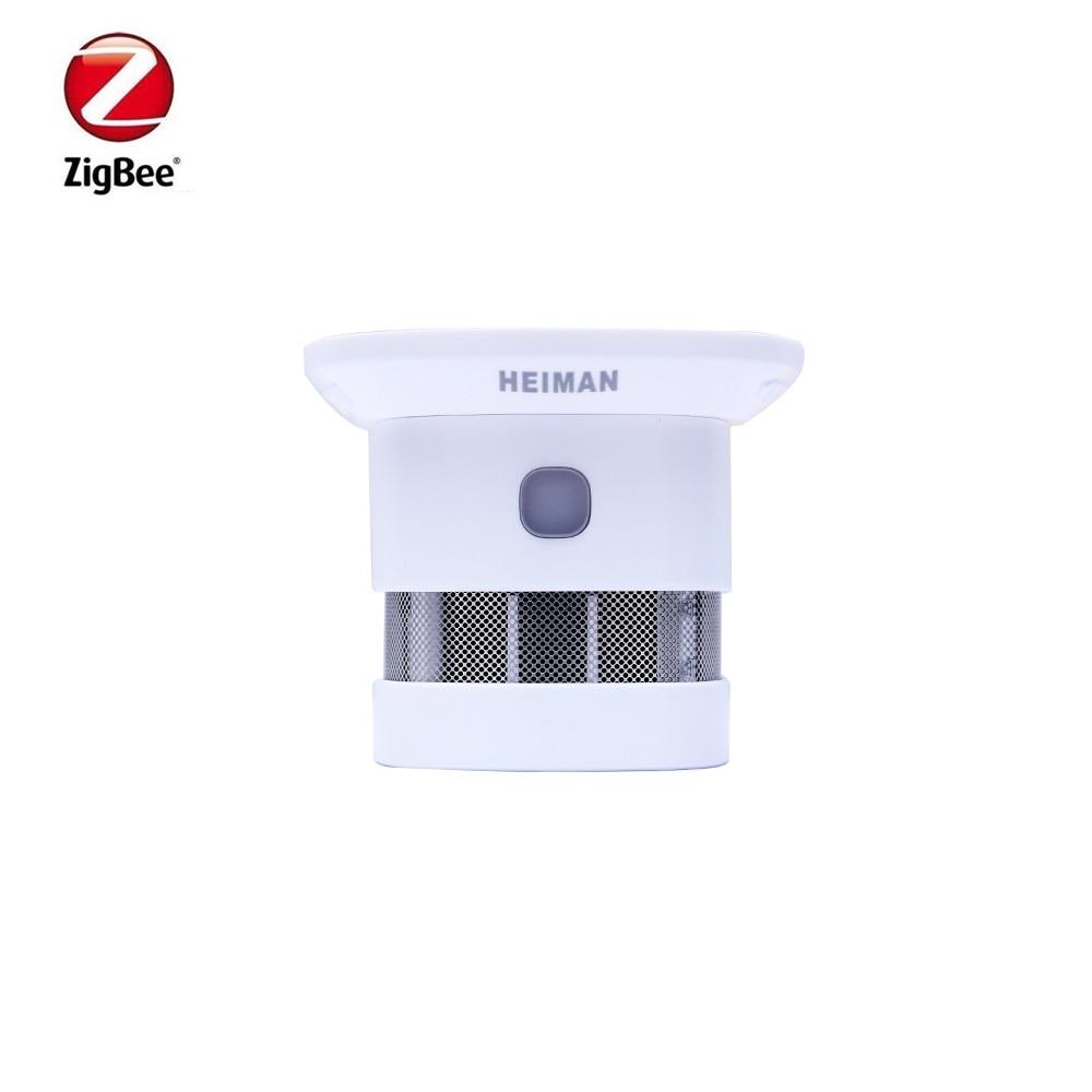 Heiman 10 Year Battery Life Zigbee Smoke Detector Fire Alarm Detector Smart Home Sensor 2.4GHz High Sensitivity Bulit In Battery