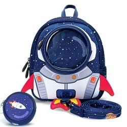 Rakiety 3D Anti-lost torby szkolne dla dziewczynek Cartoon wysokiej jakości zabawki chłopcy plecak przedszkole torby prezenty dla dzieci w wieku 1-6 lat
