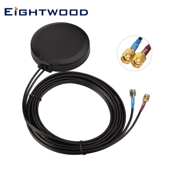 Eightwood 4G LTE Cellular GPS Adhesive Magnetic Mount Antenna for Vehicle Car Truck Bus Van 4G LTE GPS Tracker Real Time Trackin image