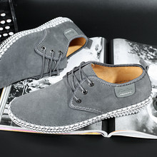 New autumn mens driving casual leather shoes soft wear-resisting Hand sewing Fashion shoes,
