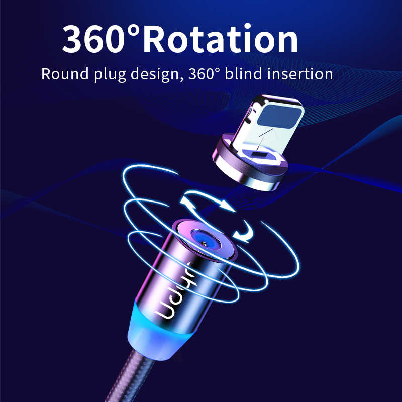 Udyr 2m Magnetische Kabel Micro USB Typ C Kabel Für iPhone xs Samsung Schnelle Lade Magnetische Ladegerät USB Kabel handy Kabel