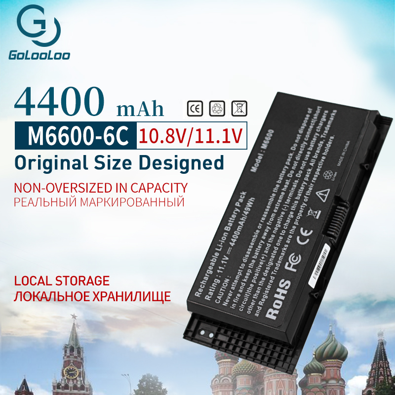 Golooloo 6 Células Bateria Do Portátil para Dell Precision M6600 M4700 M4600 M4800 M6700 FV993 FJJ4W N71FM T3NT1 PG6RC R7PND OTN1K5