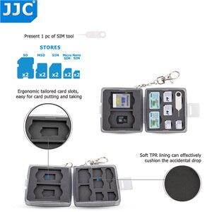 Image 2 - JJC מים עמיד מחזיק אחסון מצלמה זיכרון כרטיס תיק SD MSD 2 SIM מיקרו SIM Nano SIM כרטיסי מקרה