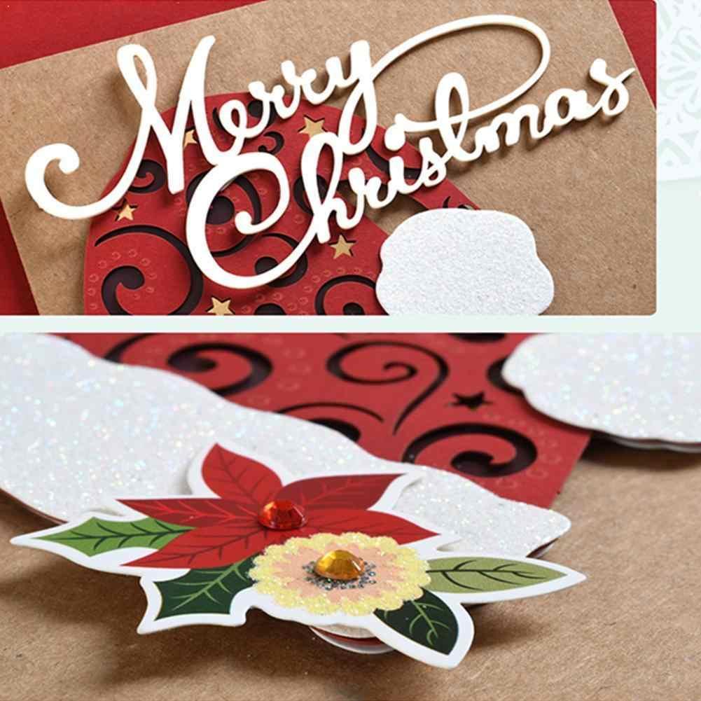 3D Merry Christmas Words  Metal Cutting Dies DIY Scrapbooking Craft Making