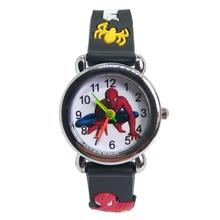Buy Spiderman Watch children classic men watch Genuine kids watches Boys Fashion Quartz Wristwatches Soft silicone students clock directly from merchant!