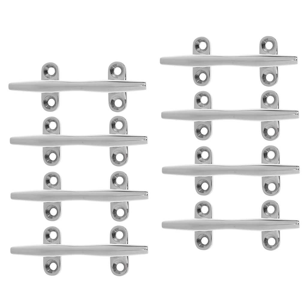 Stainless Steel Dock Deck Line Rope Cleat 8/'/' Boat Yacht Marine Hardware