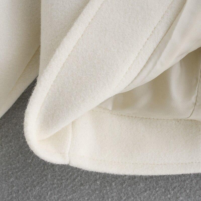 Za 2020 Women Vintage Pocket Solid Winter Long Coat Jackets Button Warm Cashmrer Overcoat Mujer Fashion Long Coats