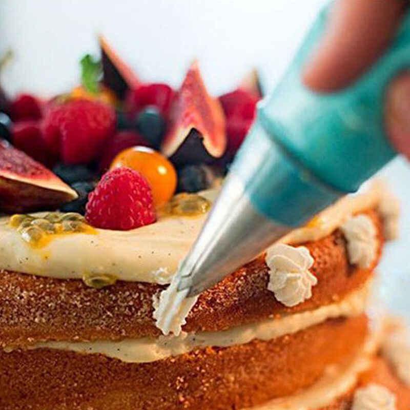 ถุงซิลิโคน Pastry เคล็ดลับครัว DIY Icing Piping Cream Reusable ถุงขนมเค้กตกแต่งเครื่องมือ