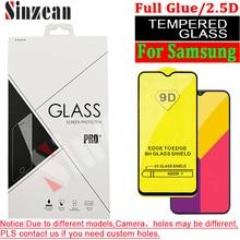 Sinzean serie J 100 piezas 9D pegamento completo vidrio templado para Samsung J8 2018/J7/J6 Prime/J4 Core/J4 Plus/J5/J2 2.5D Protector de pantalla