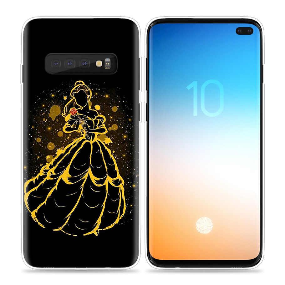 การ์ตูนเจ้าหญิง Mermaid สำหรับ Samsung Galaxy S10 5G S10e S9 S8 หมายเหตุ 10 8 9 J4 J6 Plus m40 M30 M20 M10 โทรศัพท์ Coque Sac